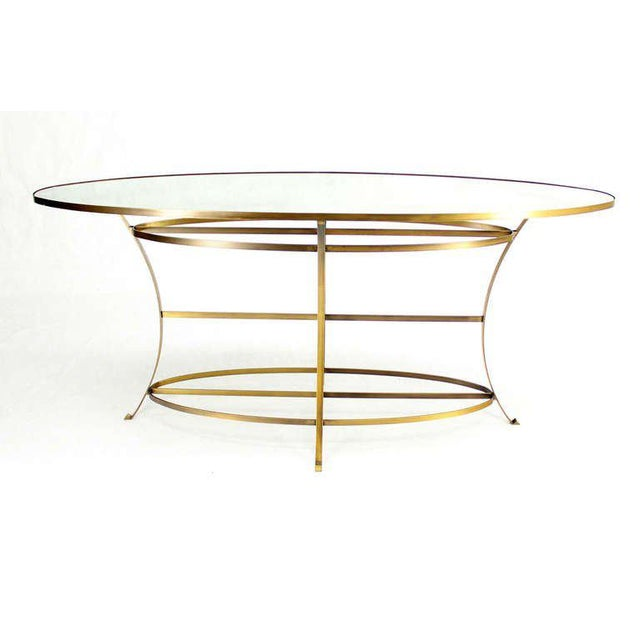 Large Oval Display Table For Sale - Image 4 of 10