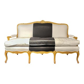 1920s French Settee, Sofa or Canape For Sale