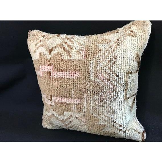Textile Turkish Oushak Antique Handmade Pillow Case For Sale - Image 7 of 11