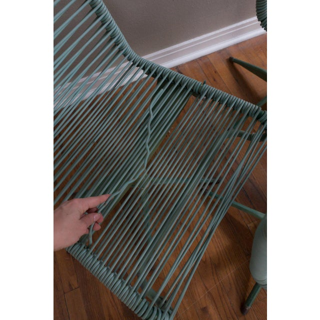 Metal 1950s Vintage Ames Aire Cabana Star Line Green Patio Chairs- Set of 4 For Sale - Image 7 of 11