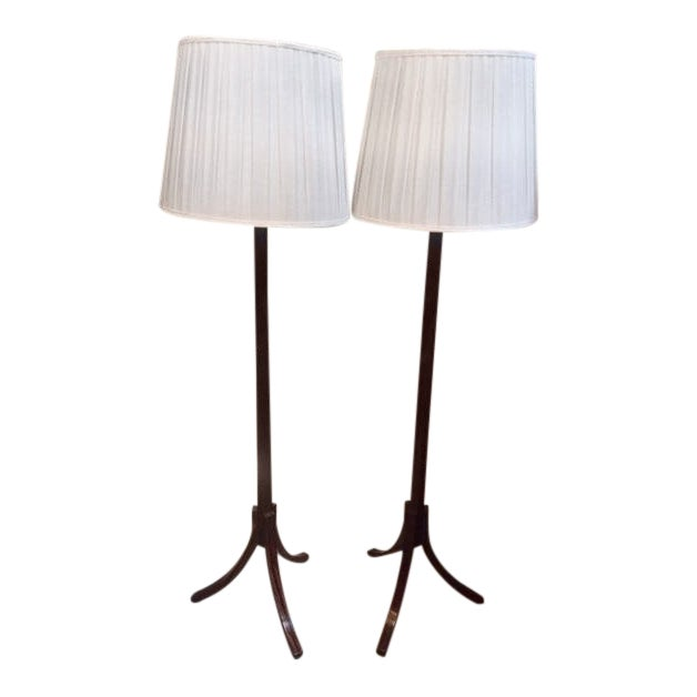 Macassar Ebony Floor Lamps - a Pair For Sale - Image 11 of 11