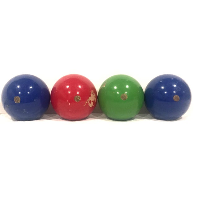 Italian Vintage Italian Bocce Balls - Set of 4 For Sale - Image 3 of 4