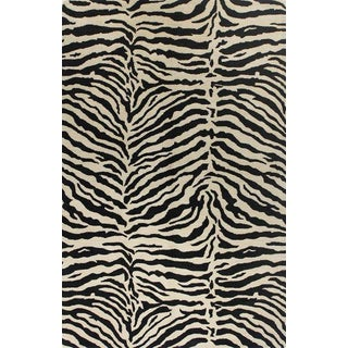"""Bashian Wool and Viscose Tufted Area Rugs - 5'6"""" x 8'6"""" For Sale"""