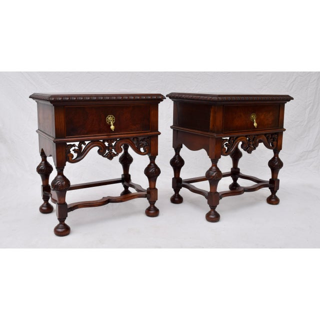 Early 20th Century Jacobean Style Side Tables or Nightstands For Sale - Image 5 of 10