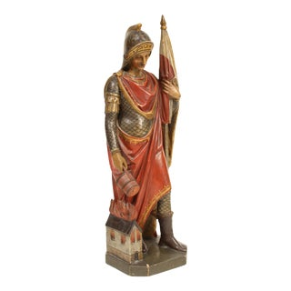 Early 20th Century Santos Wood Carving of Saint Florian For Sale