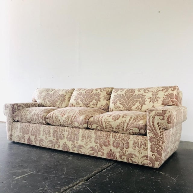Textile Custom Fortuny Sofa, Two Available For Sale - Image 7 of 13