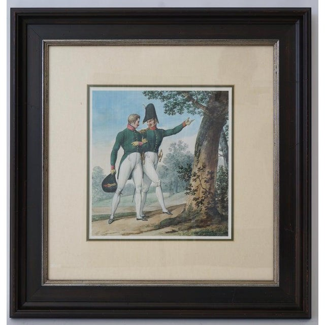 Early 20th Century Vintage 1800's Style French Military Soldier Prints - a Set of 6 For Sale - Image 5 of 13