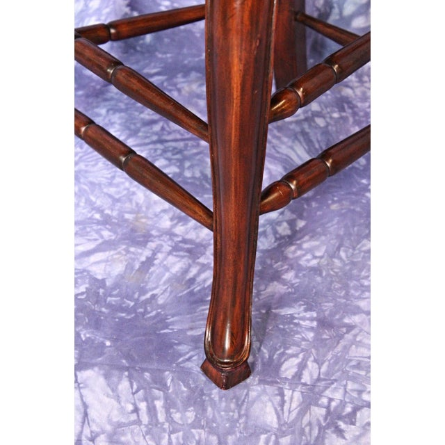 French Country Rush Seat Counter Chairs - A Pair - Image 7 of 8