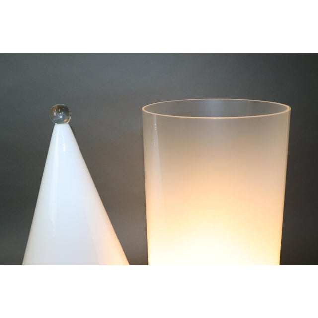 Mid-Century Modern Murano Glass Table Lamp For Sale - Image 9 of 13