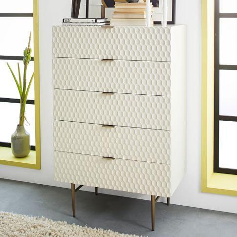 West Elm Audrey 5-Drawer Dresser For Sale - Image 9 of 10