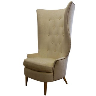 Custom Gudinna Tall Barrel Wing Chair For Sale