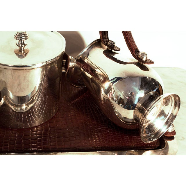Sheffield Silver & Leather Bar Service Set - Image 5 of 8