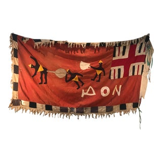 20th Century Asafo Flag Cloth Appliqué, Ghana For Sale