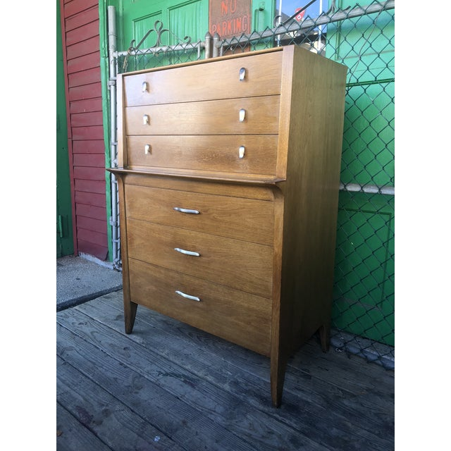 1960s Mid Century Modern Profile Highboy Dresser by Drexel For Sale - Image 12 of 13