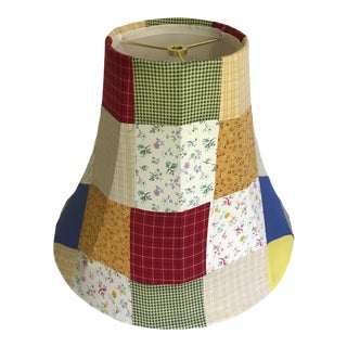 Vintage Colorful Farmhouse Quilt Patchwork Lamp Shade For Sale