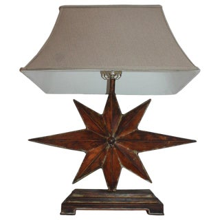Copper Star Table Lamp For Sale
