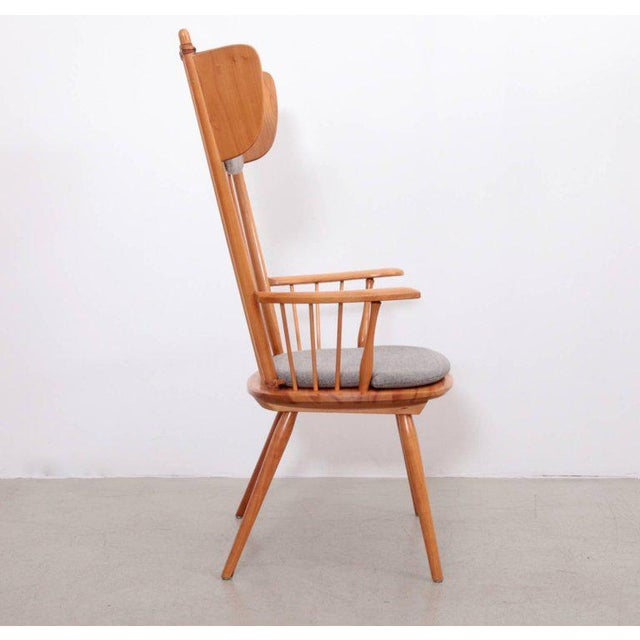 Mid-Century Modern Albert Haberer Wingback Armchair, Germany, 1950 For Sale - Image 3 of 10