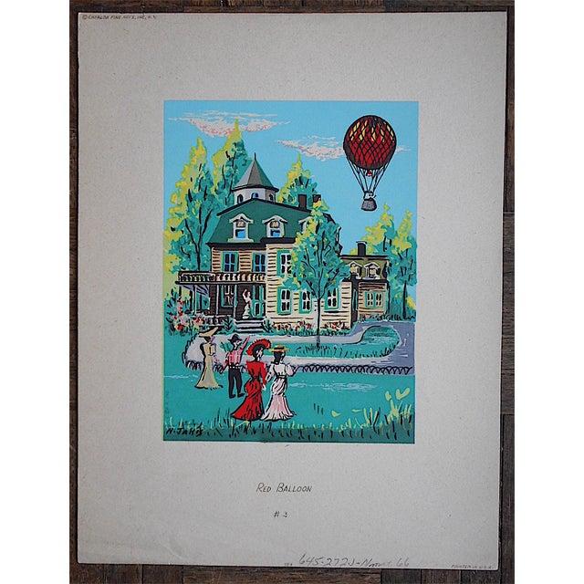 Vintage Victorian Silkscreen Print - Image 2 of 3