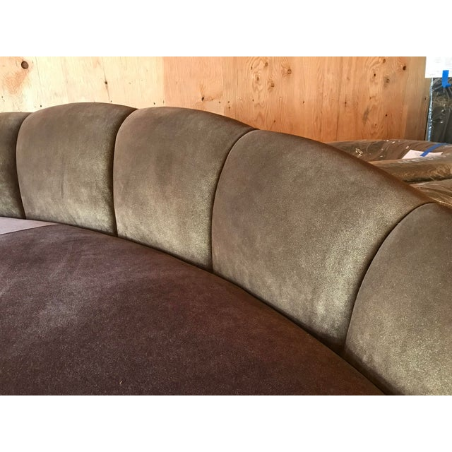 Kagan Style Curved Sofa For Sale - Image 6 of 8