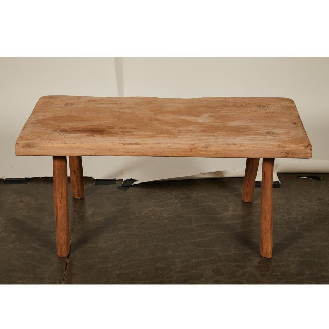 Rustic Small Rustic Table/Bench For Sale - Image 3 of 5