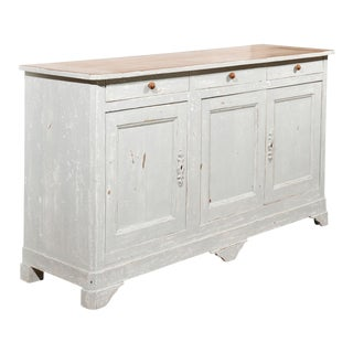 French Painted Buffet with 3 drawers and 3 doors For Sale