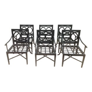 Modern Set of Patio Dining Chairs- 6 Pieces For Sale