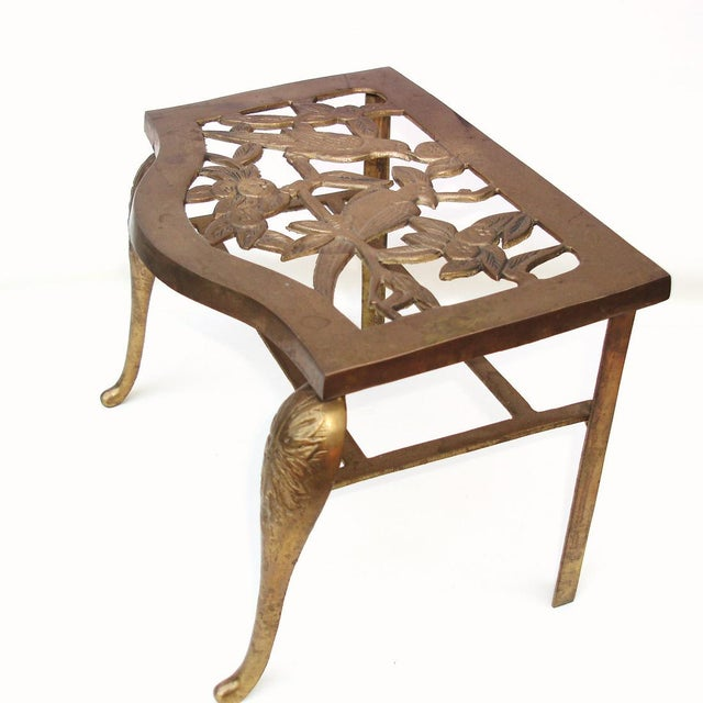 Fireplace Stool Hearth Trivet Brass Footman - Image 3 of 8
