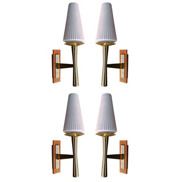 Jacques Quinet Sconces Attributed to Jacques Quinet - A Pair For Sale - Image 4 of 5