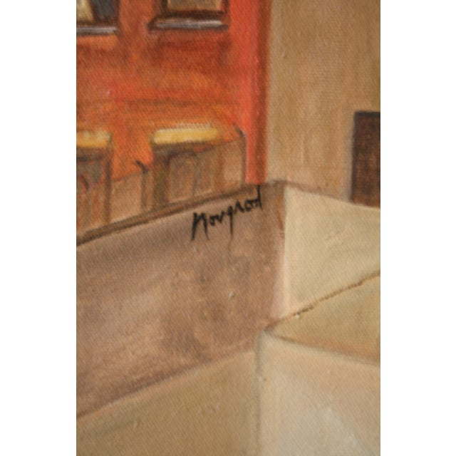 Vintage Cityscape Acrylic Painting on Canvas For Sale In San Francisco - Image 6 of 7