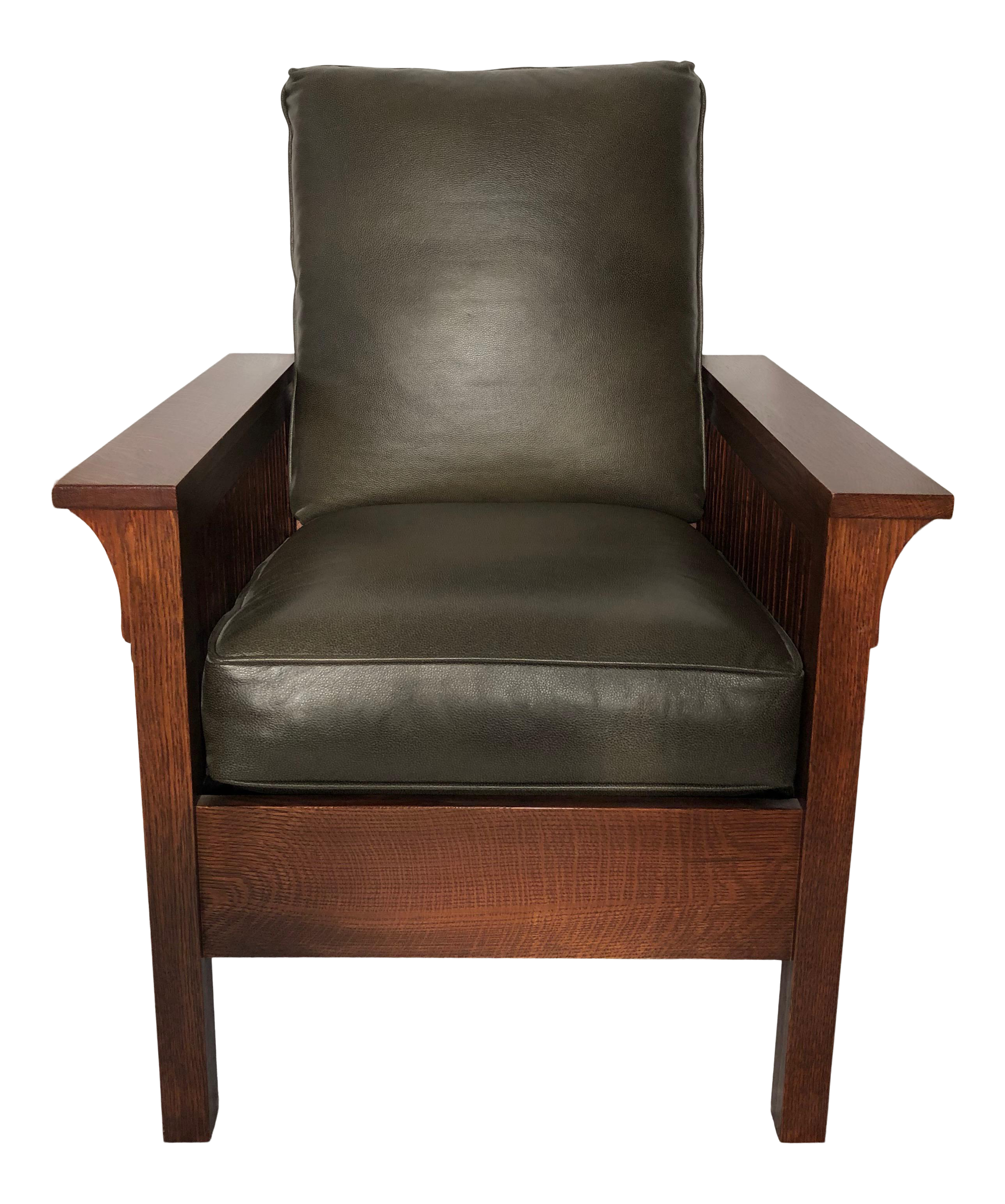 Modern Stickley Spindle Mission Lounge Chair For Sale