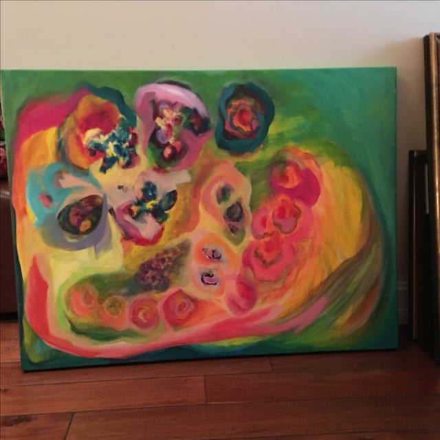Original Acrylic Floral Painting - Image 3 of 4