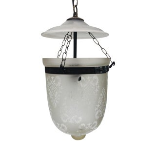 Clear Glass Bell Jar Hall Lantern For Sale