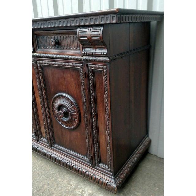 19th C. Renaissance Revival Figural Carved 3 Door Sideboard Server - Image 6 of 10