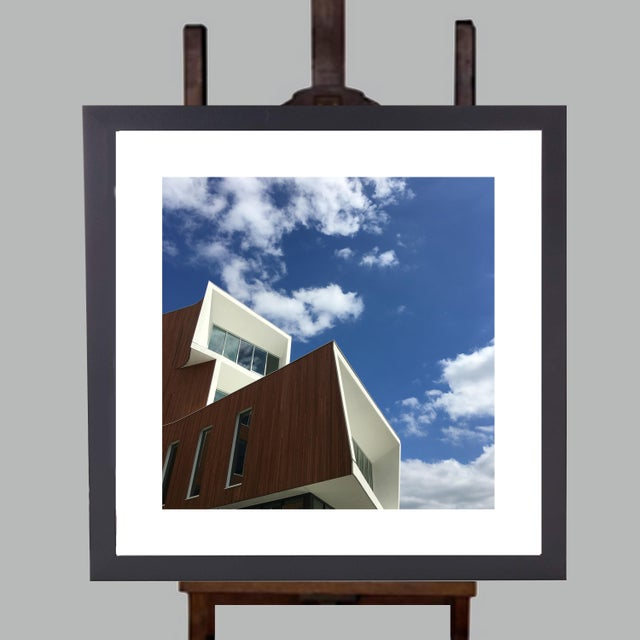 Modern Limited Edition Framed 23 X 23 Wall Art Titled Building II by Artist B. Leeds For Sale - Image 3 of 3