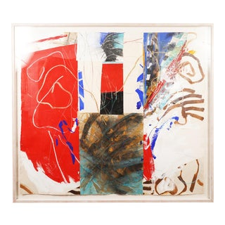 Large Steven Sorman Mixed Media Painting For Sale