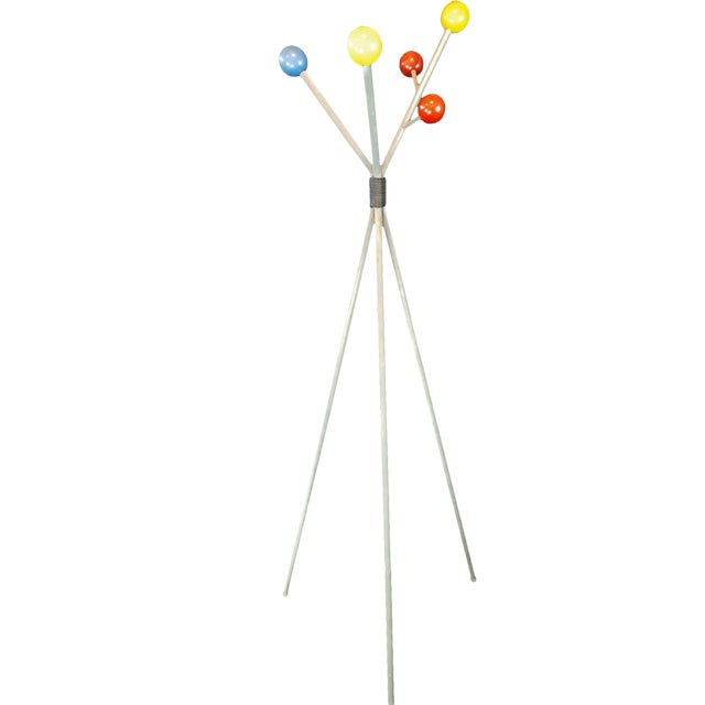George Nelson Style Space Age Sputnik Metal Coat Rack For Sale