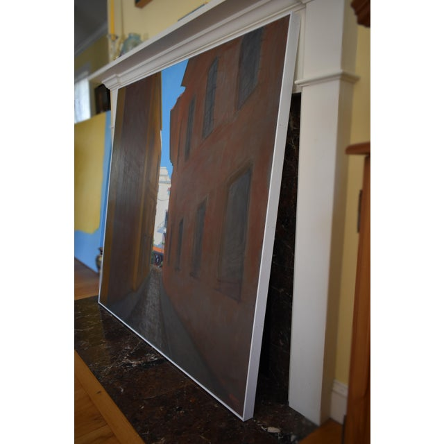 "Brown ""Memory of Seville"" Large Contemporary Painting by Stephen Remick For Sale - Image 8 of 11"