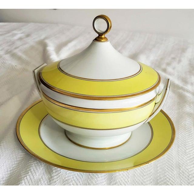Italian Richard Ginori Yellow Tureen For Sale - Image 9 of 9