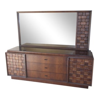 Vintage Mid-Century Brutalist Style Dresser For Sale