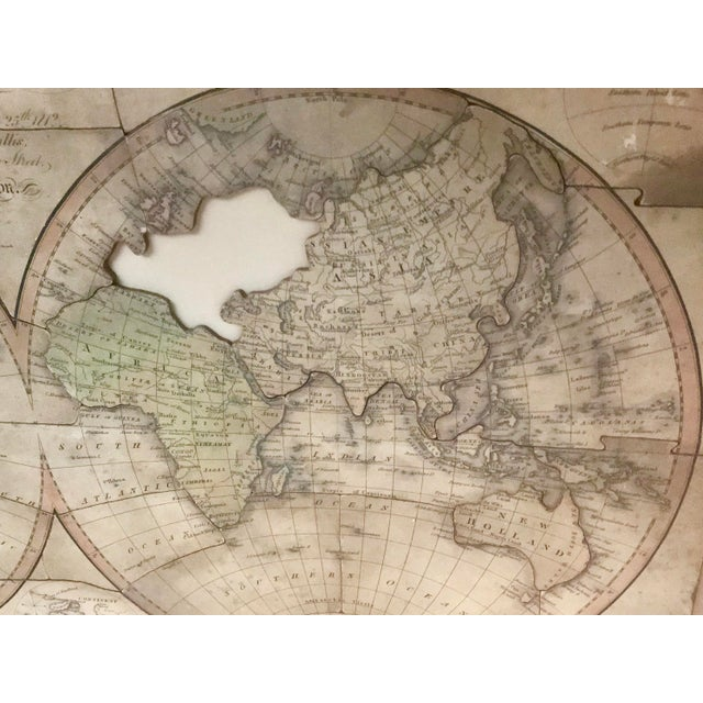 John Wallis's New Dissected 1812 Puzzle World Map For Sale In Los Angeles - Image 6 of 10