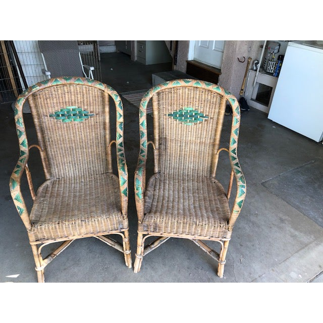 Antique Wicker Chairs-A Pair For Sale - Image 11 of 11