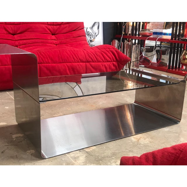 Sculptural Coffee Table Made of Three Modular Glass and Chrome Pieces, 1970s For Sale - Image 11 of 12