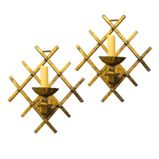 French Gilt-Iron Sconces For Sale