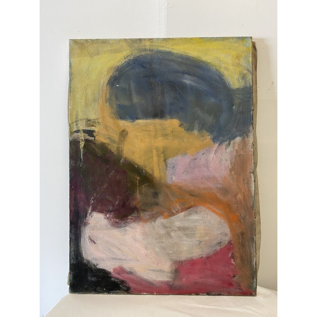 1960s Abstract Sachiko Asano Painting For Sale - Image 4 of 4