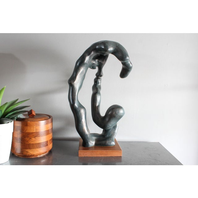 """Abstract Austin Productions """"Portrait of a Woman"""" Sculpture by Klara Sever 1979 For Sale - Image 3 of 13"""