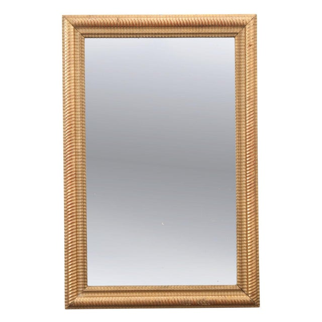 French 19th Century Rectilinear Gold Gilt Mirror For Sale - Image 9 of 9