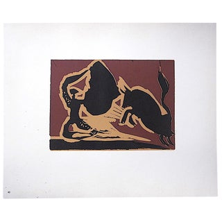 """Vintage Mid 20th C. Limited Edition Picasso Lithograph-""""Farol"""" For Sale"""