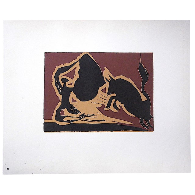 "Vintage Mid 20th C. Limited Edition Picasso Lithograph-""Farol"" For Sale"