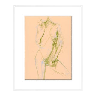 Figure 1 by David Orrin Smith in White Frame, Small Art Print For Sale