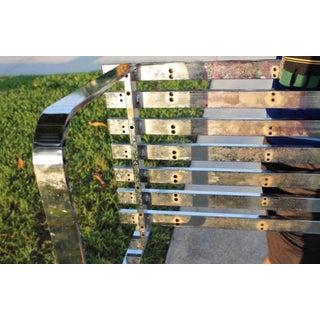 Vintage Hollywood Regency Milo Baughman Steel Chrome Slat Bench Preview